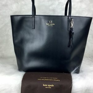 kate spade Black Leather Sawyer Street Tote